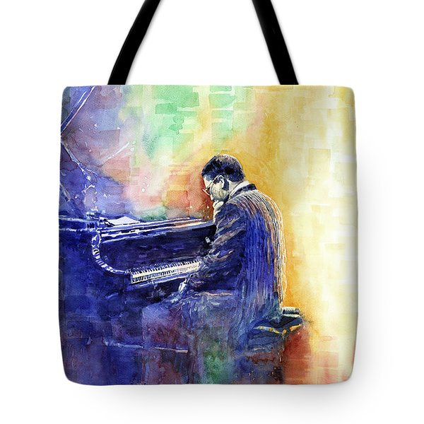 Jazz Pianist Herbie Hancock  Tote Bag by Yuriy Shevchuk