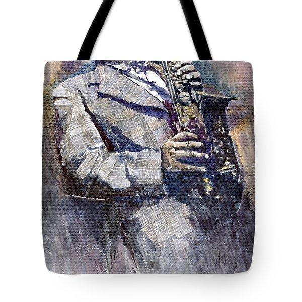 Jazz Saxophonist Charlie Parker Tote Bag by Yuriy  Shevchuk