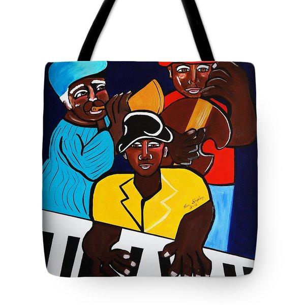 Jazz Sunshine Band Tote Bag by Nora Shepley