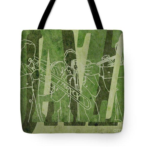 Jazz Trio 33 - Green Tote Bag