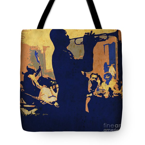 Jazz Trumpet Player Tote Bag