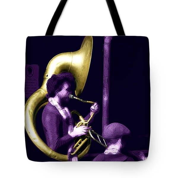 Jazz Tuba Tote Bag by John Rizzuto