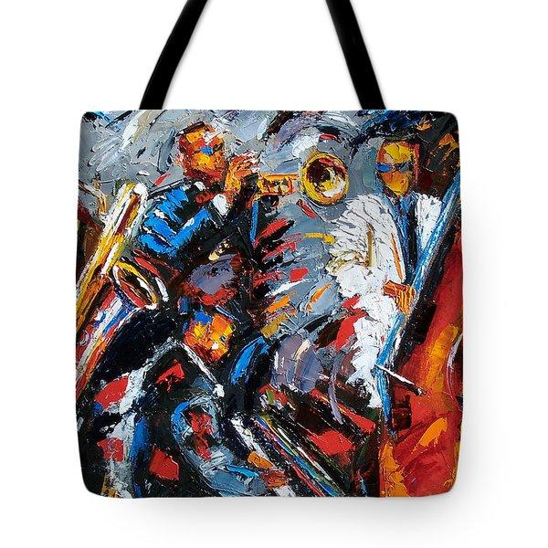 Jazz Unit Tote Bag by Debra Hurd