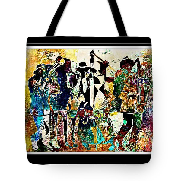 Jazzy Band Tote Bag by Lynda Payton