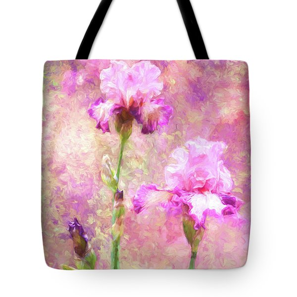 Jazzy Irises Tote Bag by Diane Schuster
