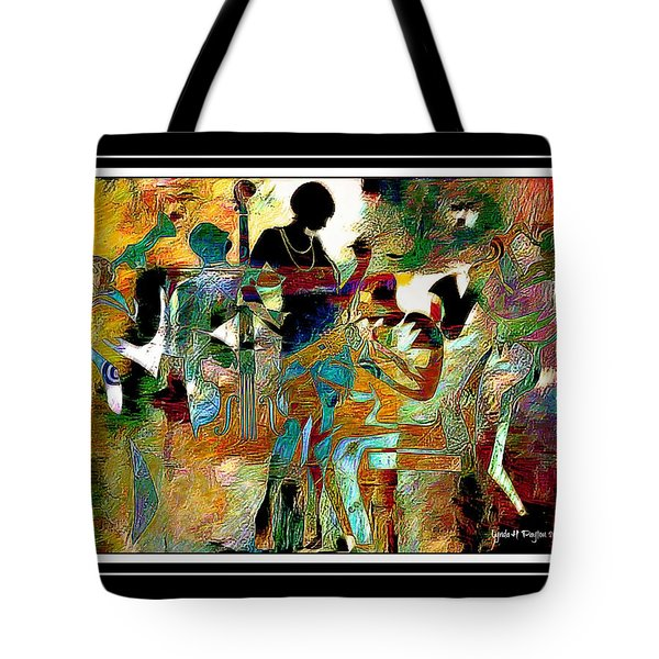 Jazzy Night 2 Tote Bag by Lynda Payton