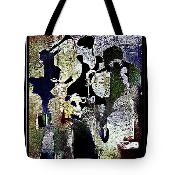 Jazzy Night 9 Tote Bag by Lynda Payton