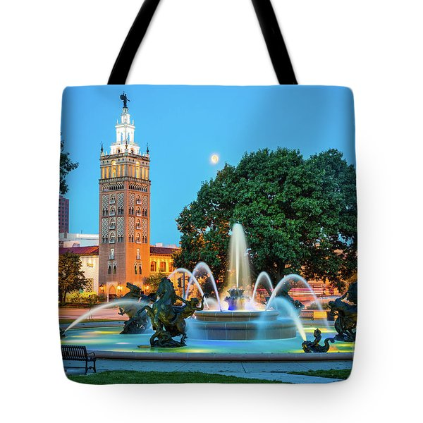 J.c. Nichols Memorial Fountain Tote Bag