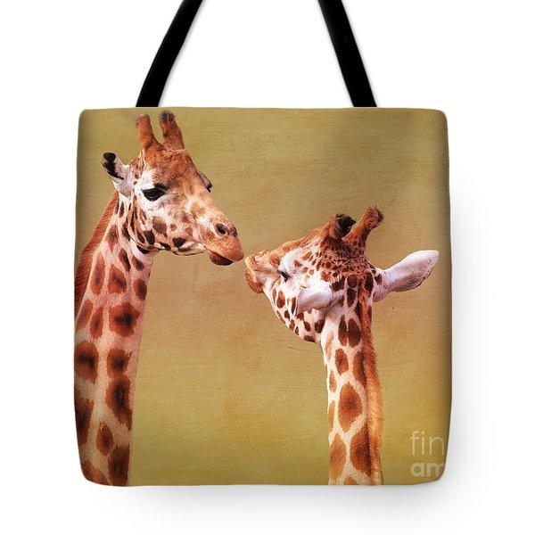 Je T'aime Giraffes Tote Bag