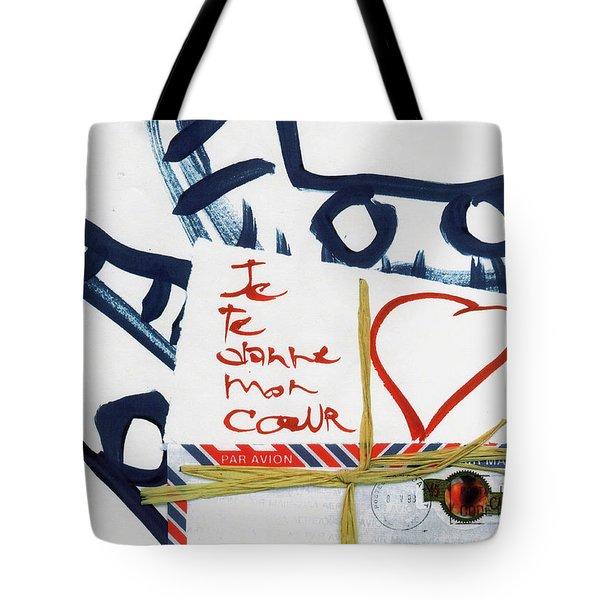 Je Te Donne Mon Coeur Tote Bag