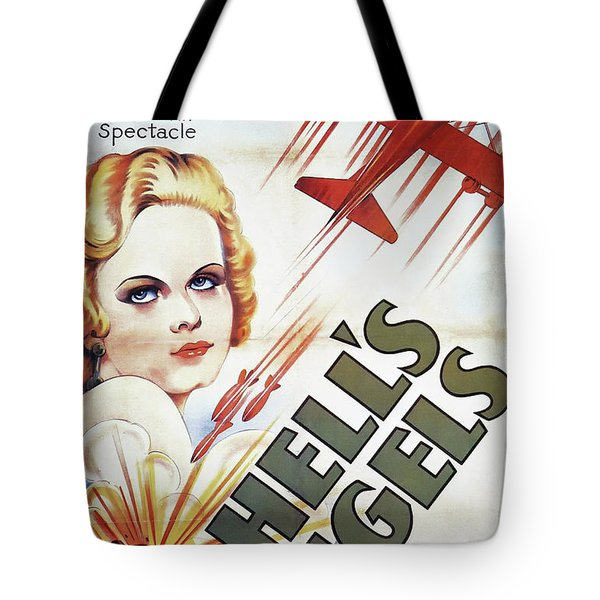 Jean Harlow In Hell's Angels 1930 Tote Bag