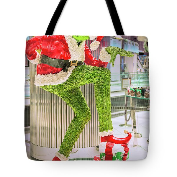 Jean Philippe's Chocolate Grinch In The Aria Casino Tote Bag