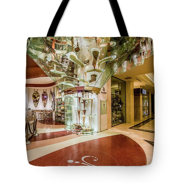 Jean Philippe's Patisserie - World's Largest Chocolate Fountain In The Bellagio Tote Bag