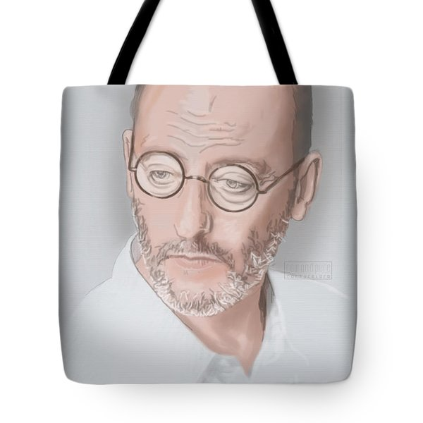 Tote Bag featuring the mixed media Jean Reno by TortureLord Art