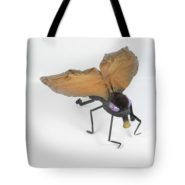 Jeanetic Violet-eyed Fly Tote Bag by Michael Jude Russo