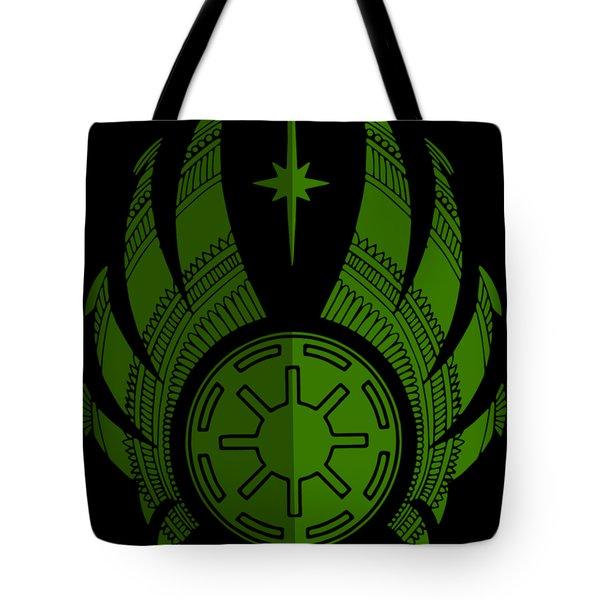 Jedi Symbol - Star Wars Art, Green Tote Bag