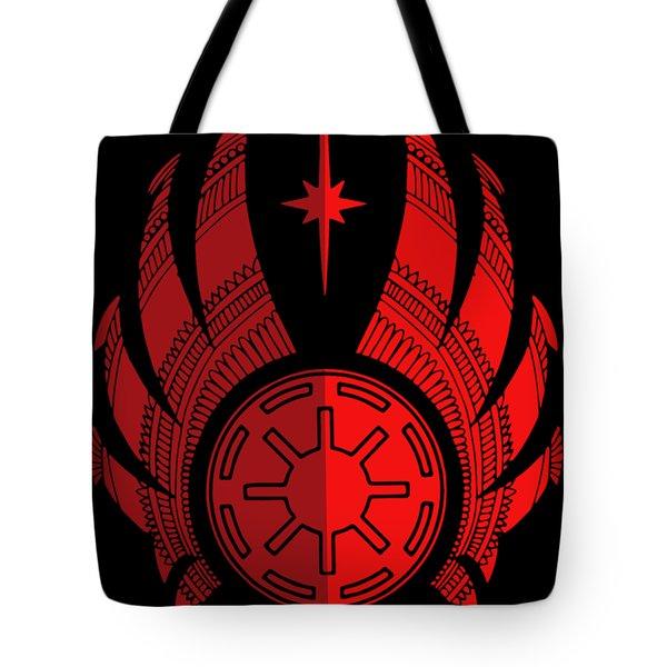 Jedi Symbol - Star Wars Art, Red Tote Bag