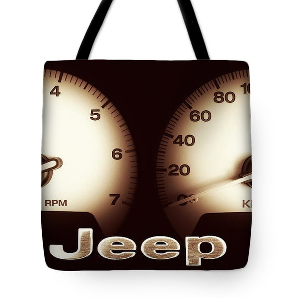 Tote Bag featuring the photograph Jeep 01 by Kevin Chippindall