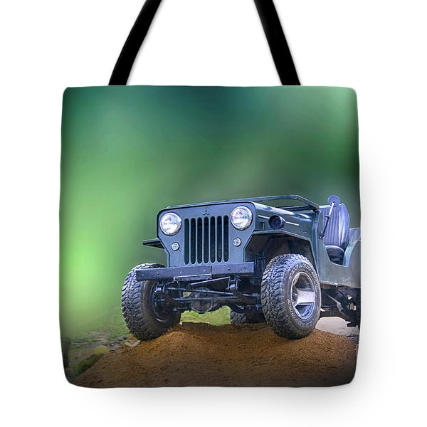 Tote Bag featuring the photograph Jeep by Charuhas Images