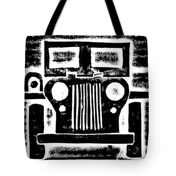 Jeep Tote Bag by Jame Hayes