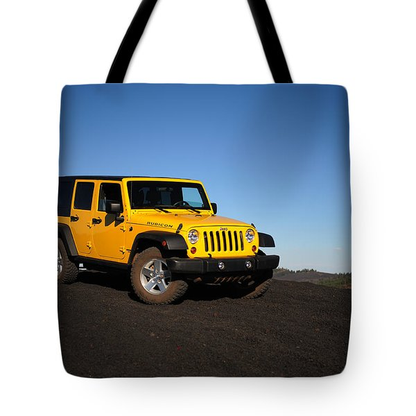 Jeep Rubicon In The Cinders Tote Bag