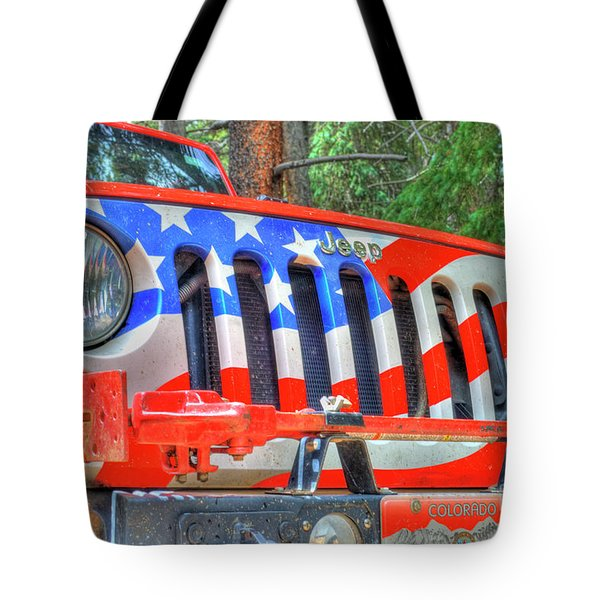 Jeep Usa Tote Bag