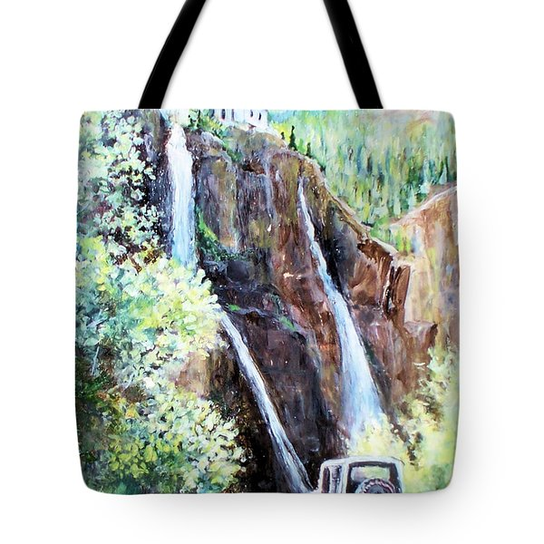Jeeping At Bridal Falls  Tote Bag