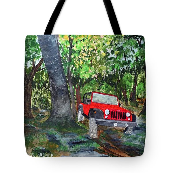 Jeeping Tour Tote Bag by Jack G  Brauer