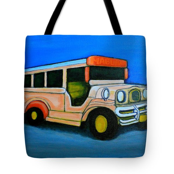 Jeepney Tote Bag by Cyril Maza