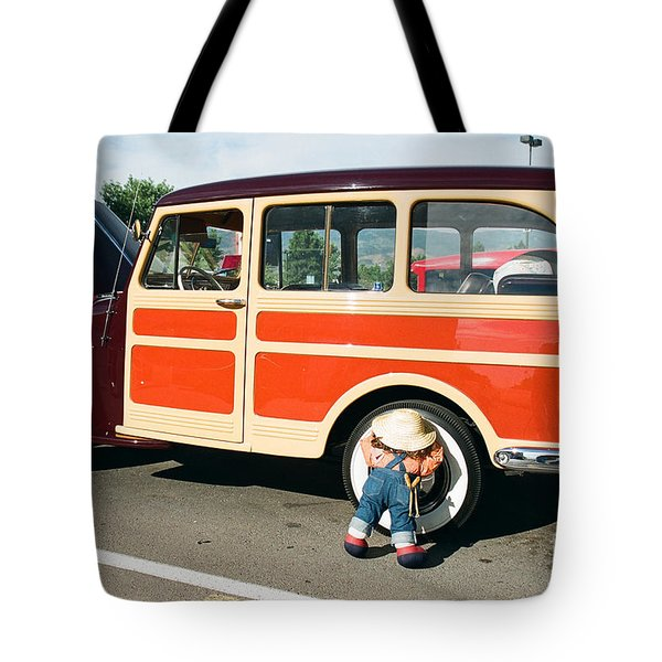 Tote Bag featuring the photograph Jeepster by Vinnie Oakes