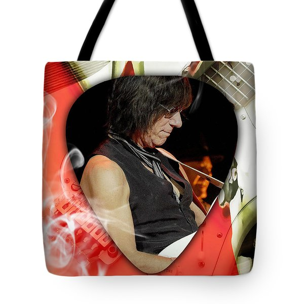Jeff Beck Guitarist Art Tote Bag by Marvin Blaine