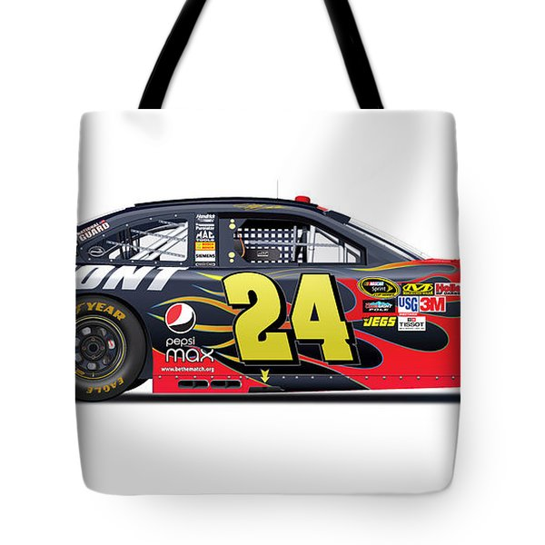 Jeff Gordon Nascar Image Tote Bag by Alain Jamar