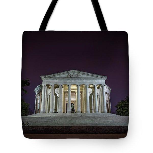 Jefferson At Night Tote Bag
