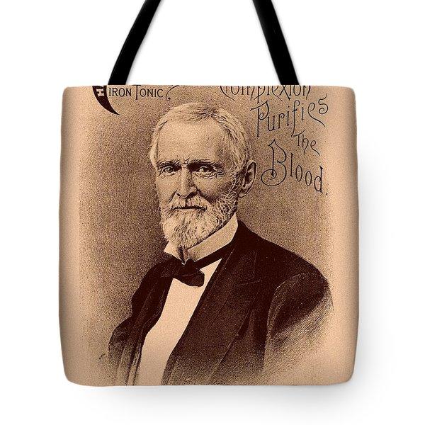 Jefferson Davis Vintage Advertisement Tote Bag
