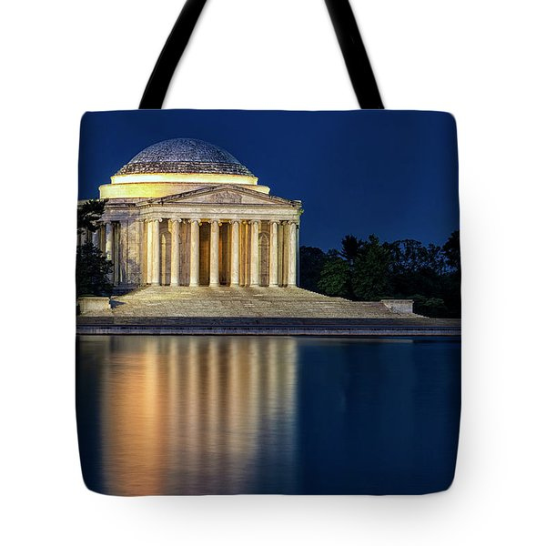 Jefferson Memorial At Twilight Tote Bag