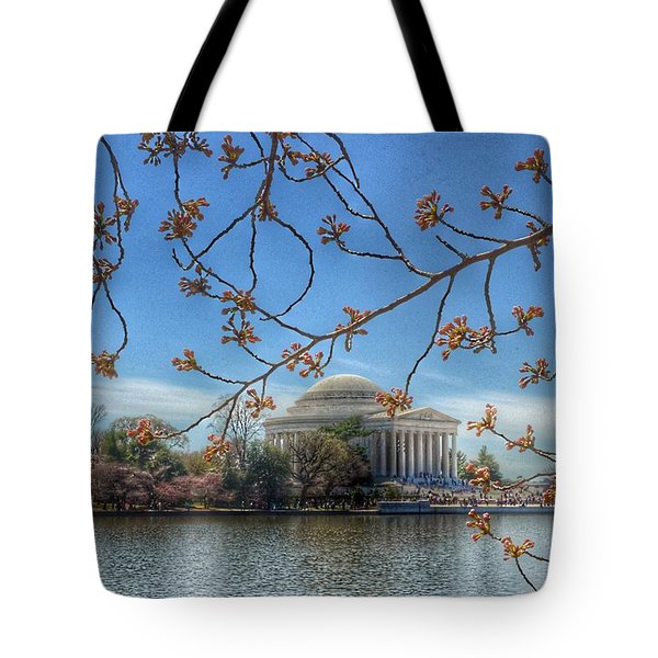 Jefferson Memorial - Cherry Blossoms Tote Bag