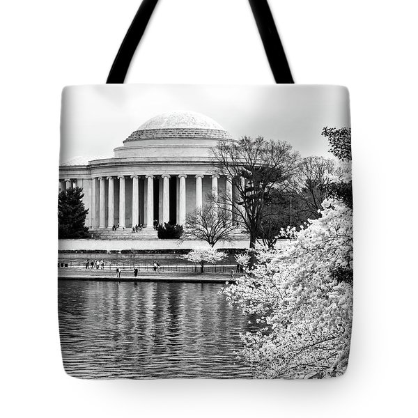 Jefferson Memorial Cherry Blosum Time Tote Bag