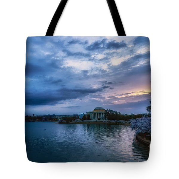 Jefferson Memorial Dawn Tote Bag by Thomas R Fletcher