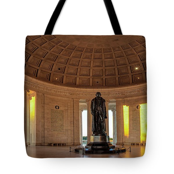 Jefferson Memorial In Morning Light Tote Bag by Andrew Soundarajan