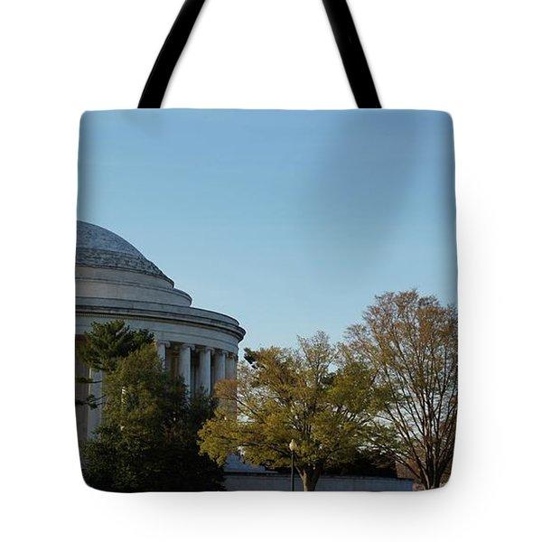 Jefferson Memorial Tote Bag by Megan Cohen