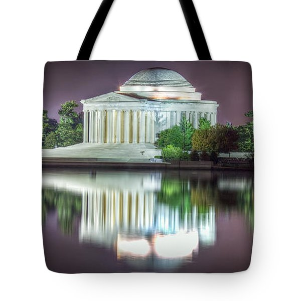 Tote Bag featuring the photograph Jefferson Memorial, Night by Ross Henton