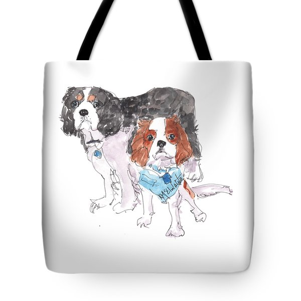 Jeffs Dogs Watercolor Kmcelwaine  Tote Bag