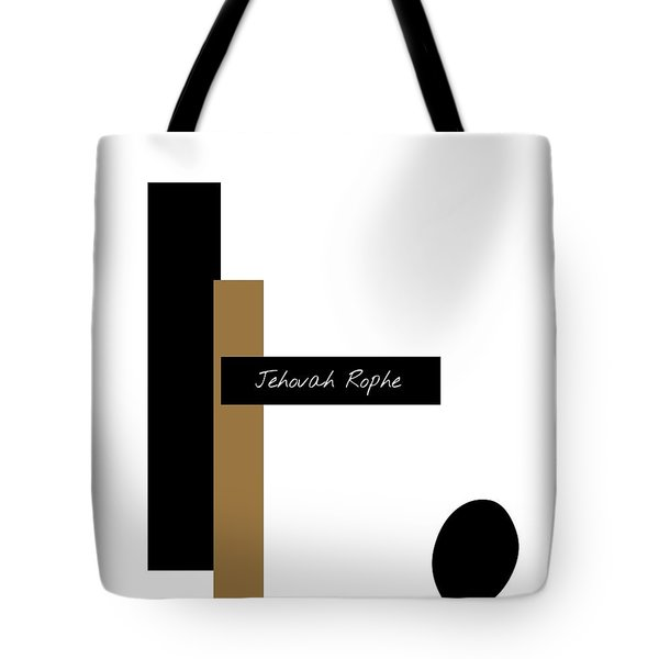 Tote Bag featuring the mixed media Jehovah Rophe by Jessica Eli