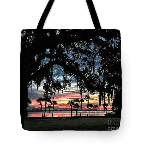 Jekyll Island Georgia Sunset Tote Bag