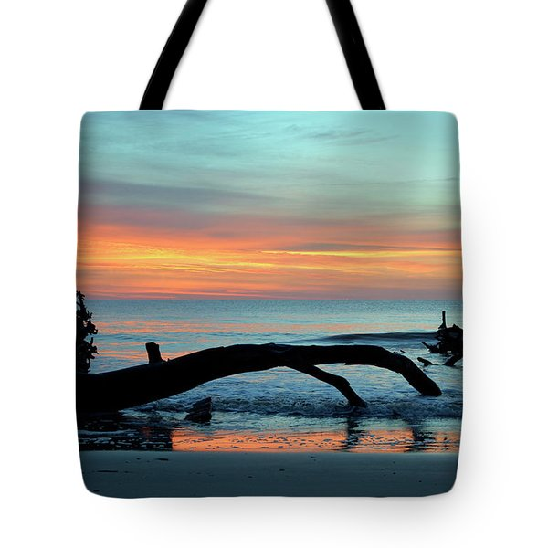 Tote Bag featuring the photograph Jekyll Island Sunrise 2016a by Bruce Gourley