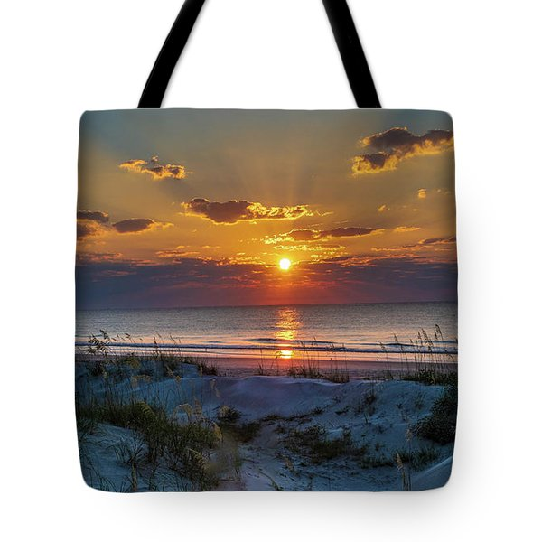 Tote Bag featuring the photograph Jekyll Island Sunrise by Louis Dallara
