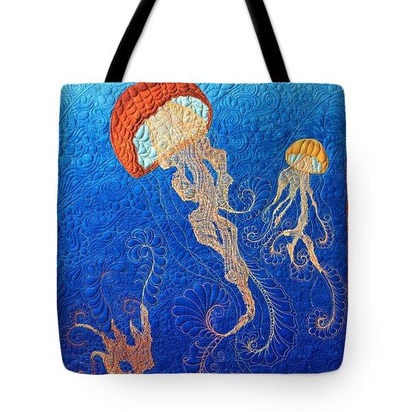 Jellies Of The Sea Tote Bag