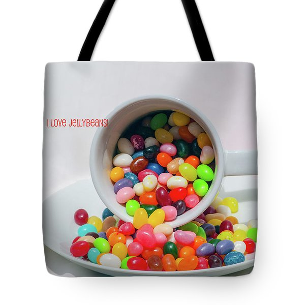 Jelly Beans Tote Bag by Carolyn Dalessandro