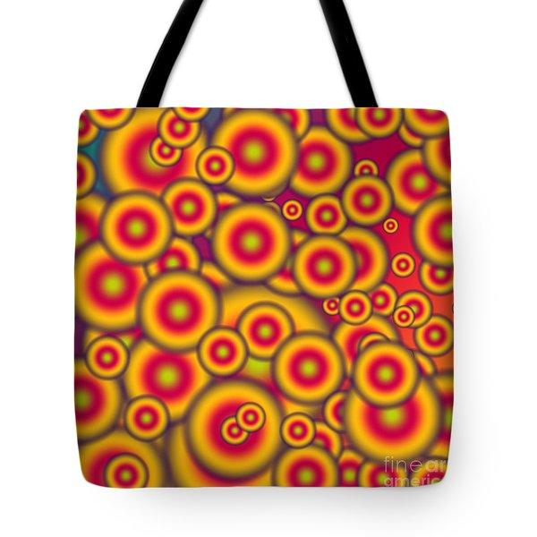 Jelly Donuts Invasion Tote Bag by Gaspar Avila