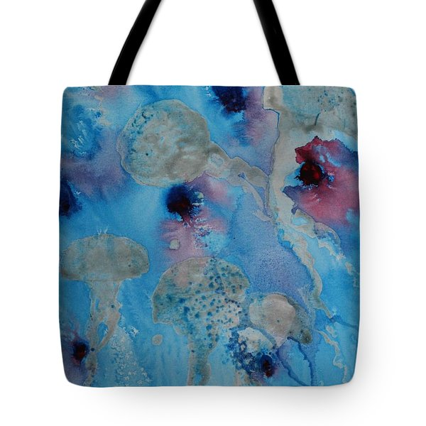 Jelly Fish Abstract Tote Bag
